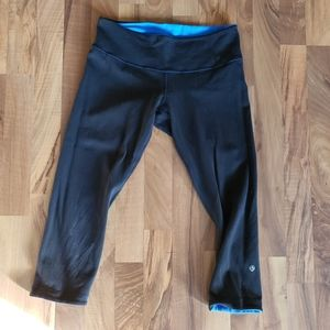 Lululemon size 8 reversible wunder under crop